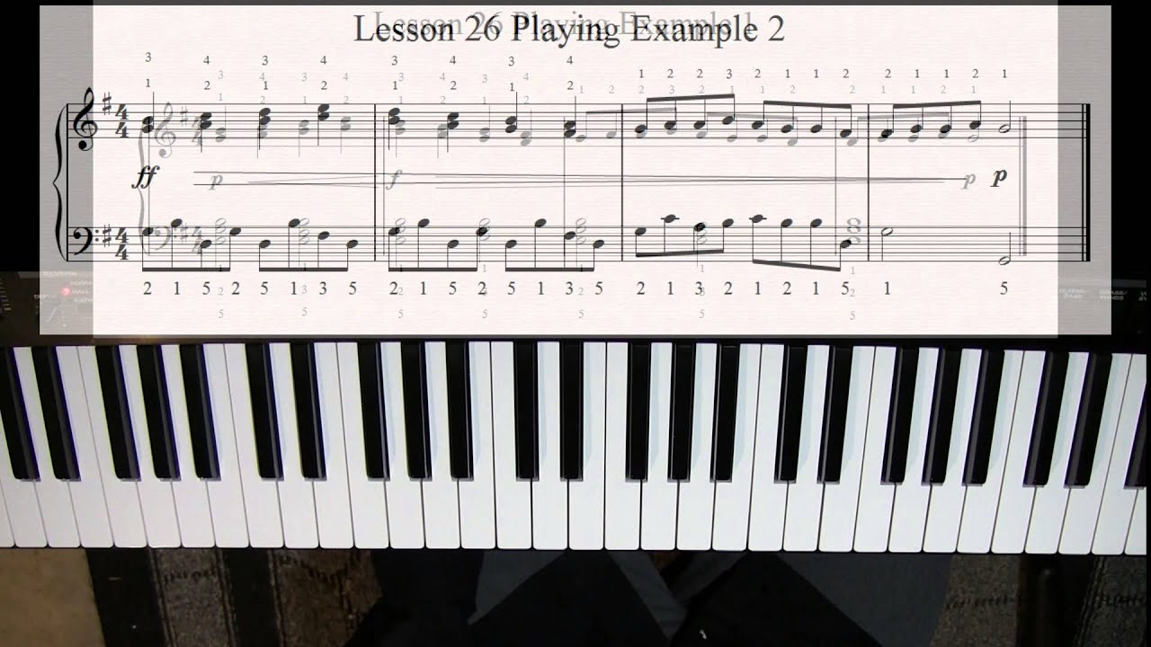 Learn To Play Piano Lesson 26 Playing Songs The Key Of G Major 2