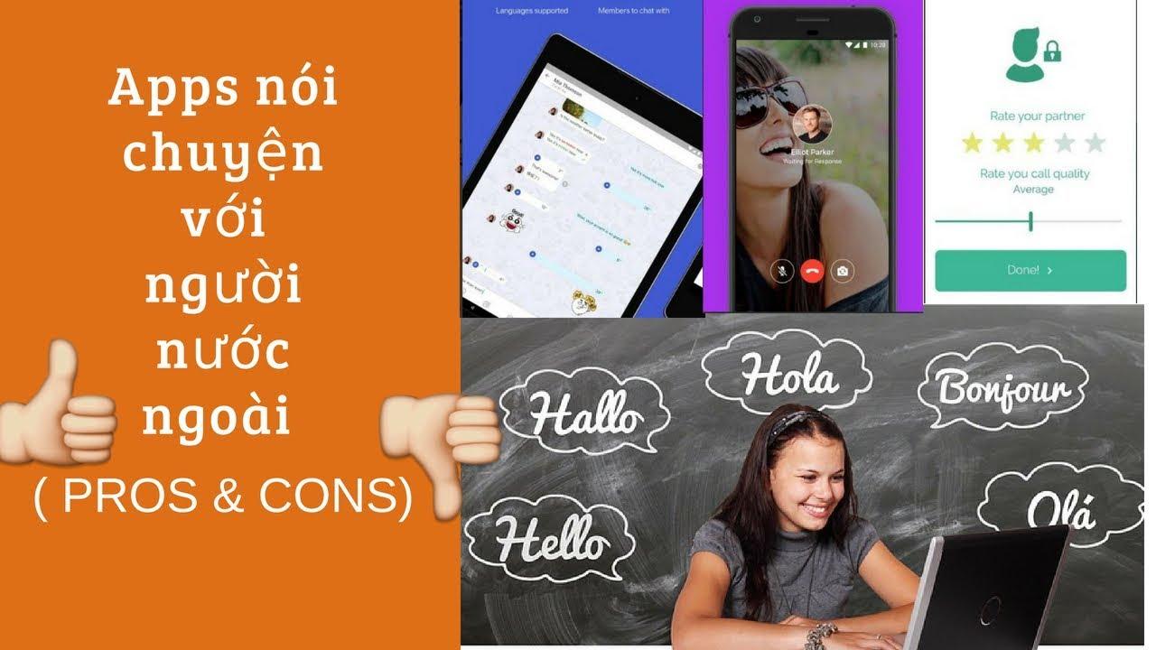 Ứng dụng nói chuyện với người nước ngoài miễn phí( học ngoại ngữ)