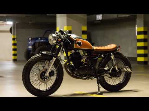 suzuki gn 125 bratstyle cafe racer youtube. Black Bedroom Furniture Sets. Home Design Ideas