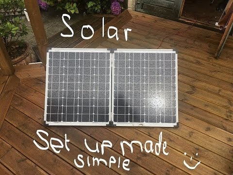 A simple solar power setup for camping