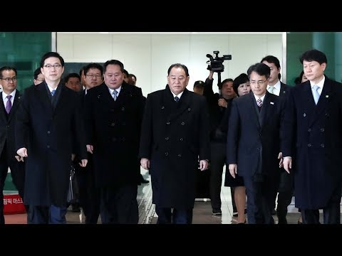 Delegation from DPRK arrives in ROK for PyeongChang closing ceremony