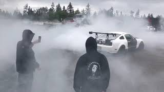 INSANE 3 Wide Roll Racing! CRAZY Burn Out Action!!