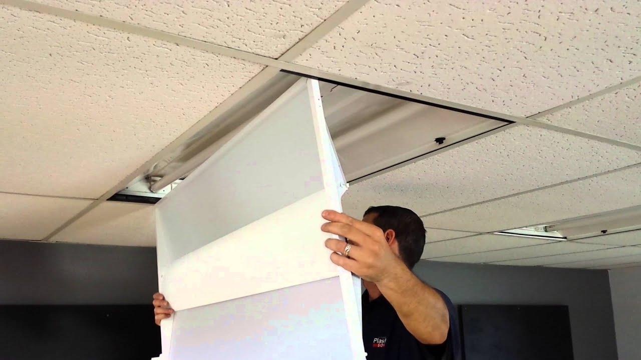 Replace fluorescent light fixture in drop ceiling lightneasy lighting retrofit 2x4 fixtures made easy you fluorescent lights suspended ceiling lighting arubaitofo Image collections