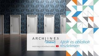 Ajtók és ablakok részletesen - ARCHLine.XP Webinar