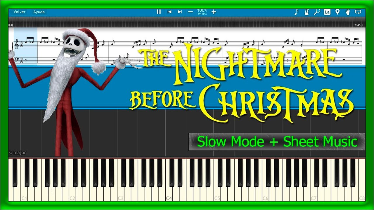 The Nightmare Before Christmas - Theme Song [Slow + Sheet Music ...