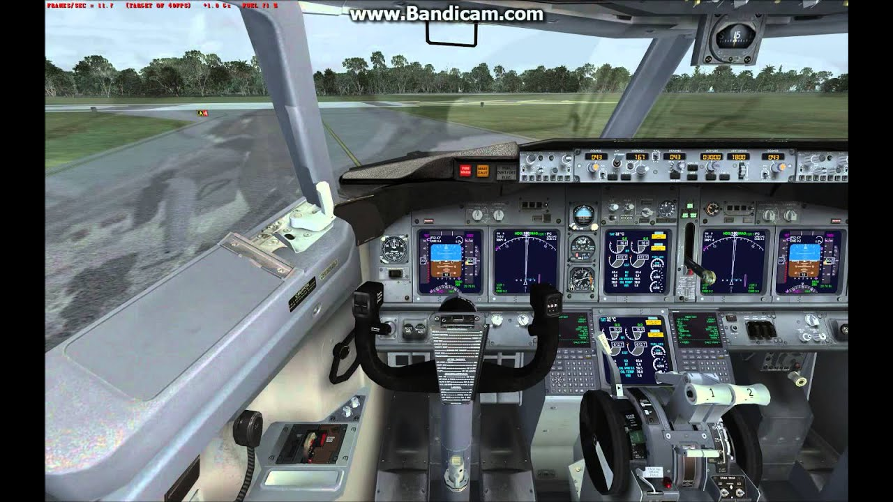 [Flight Simulator X] Test Video-Boeing 737-800 Take Off from WMKP