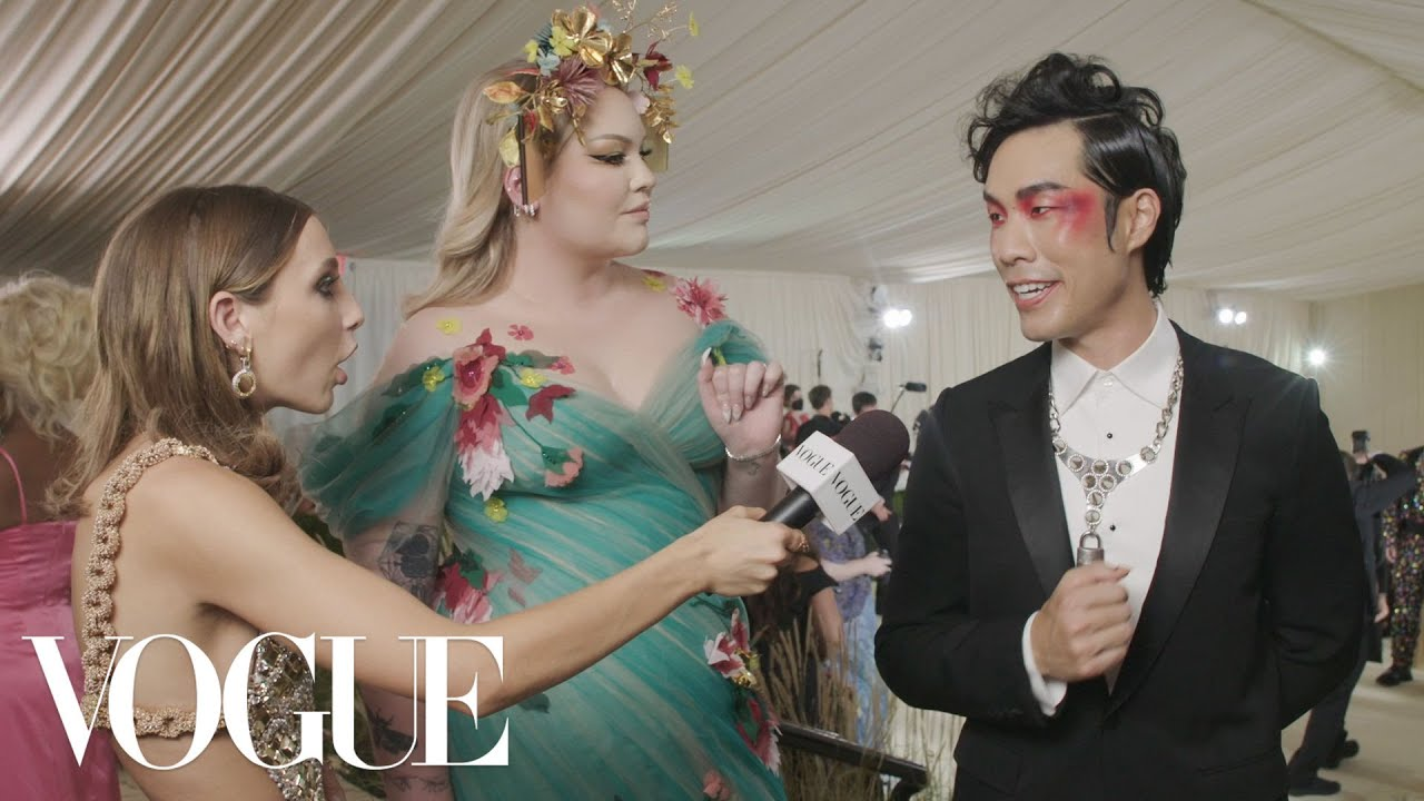 Eugene Lee Yang & Nikkie de Jager on Eugene's Last Minute Look   Met Gala 2021 w/ Emma Chamberlain