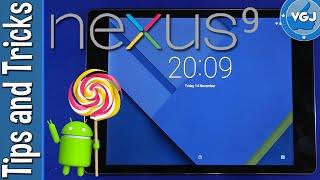Nexus 9 Tips and Tricks - Basic Lockscreen Functions