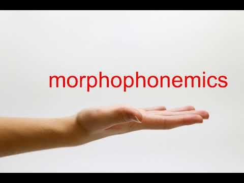 How to Pronounce morphophonemics - American English