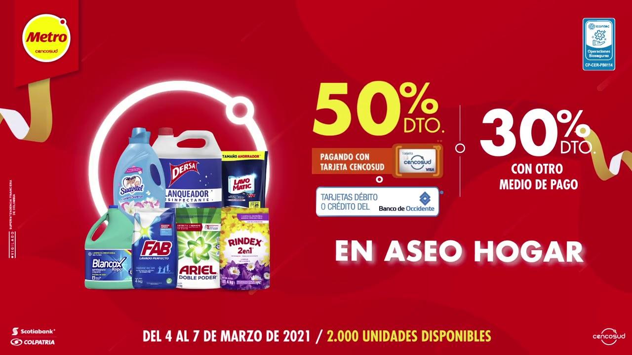 Aprovecha 50% de descuento en productos de aseo para el hogar pagando con tu tarjeta Cencosud