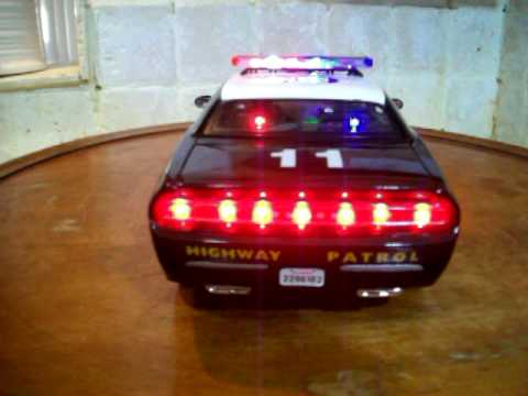 1 18 Dodge Challenger Chp Concept California Highway Patrol Diecast Toy Car With Lights And