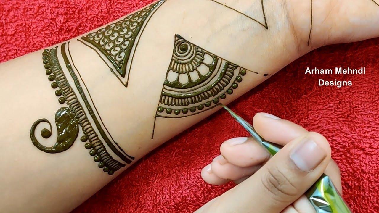 Mehndi Tutorial for Beginners || Easy Mehndi Fillers Patterns || Simple Mehndi Design for Front Hand