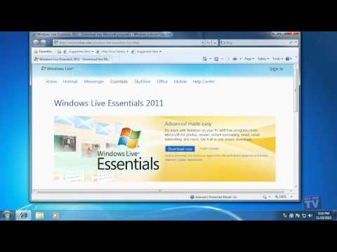 Installing Windows Live Essentials 2011