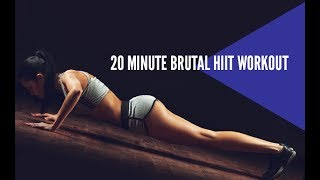 20 Minute Brutal HIIT Workout (NOT FOR THE FAINT OF HEART!!)
