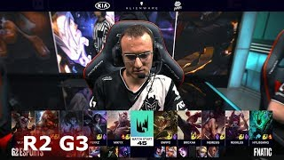 Fnatic vs G2 eSports - Game 3 | Round 2 S9 LEC Summer 2019 Playoffs | FNC vs G2 G3
