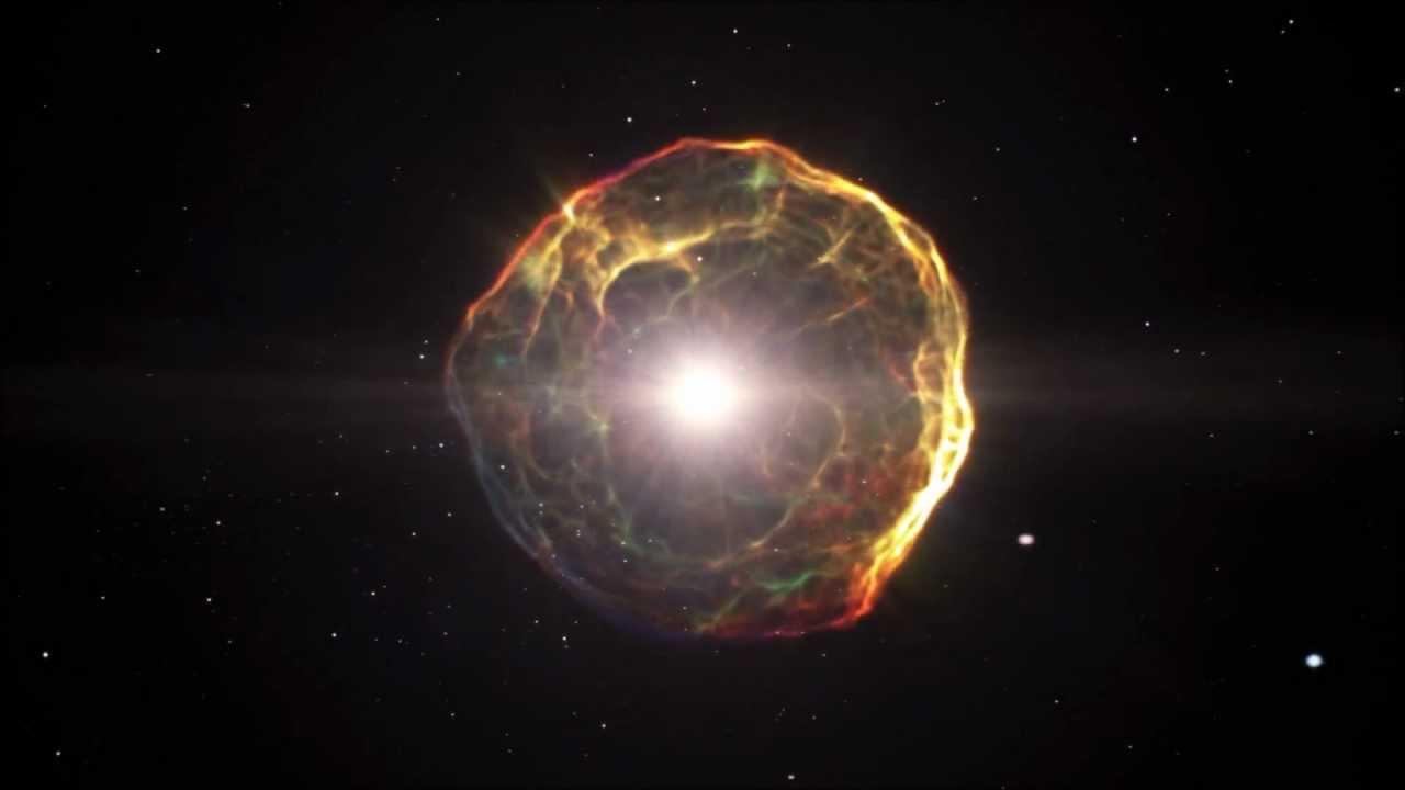 초신성 폭발 Supernova explosion (artist's impression) - YouTube