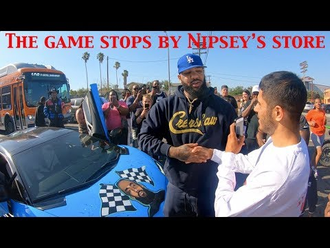 the-game-turns-heads-at-nipsey-hussle-l.a.-memorial,-joins-diverse-group-of-fans-from-across-usa