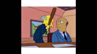 Mr. Burns & College Administrators - The Simpsons