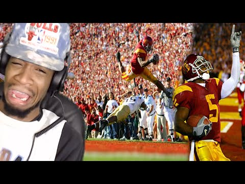 THE GREATEST COLLEGE RB EVER! REGGIE BUSH USC HIGHLIGHTS REACTION!!