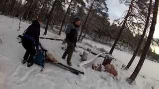 Ice fishing trip