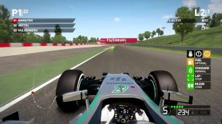 F1 2014 Gameplay   Montmeló - Barcelona   Lewis Hamilton   Live Comentary