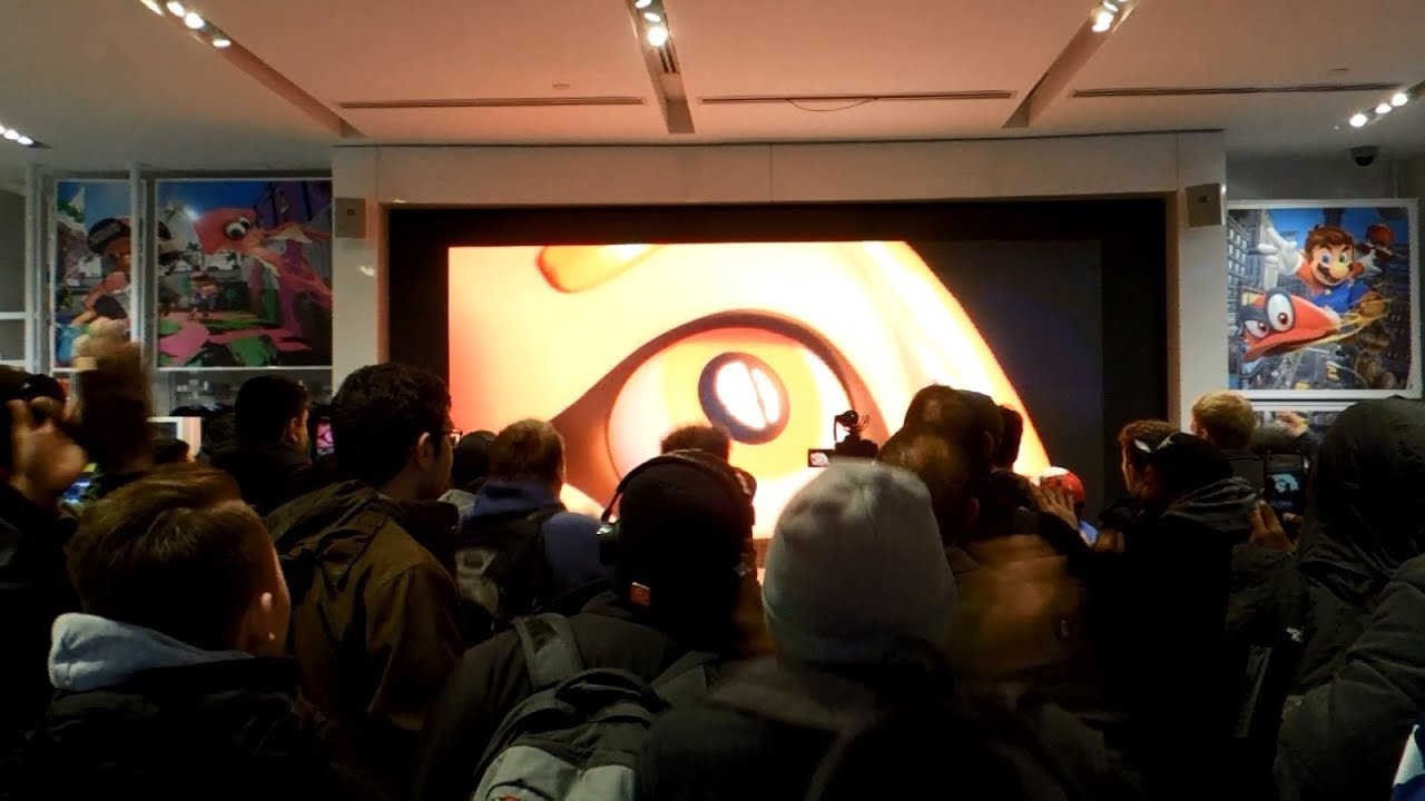 Super Smash Bros. for Nintendo Switch Reveal Live Reactions at Nintendo NY