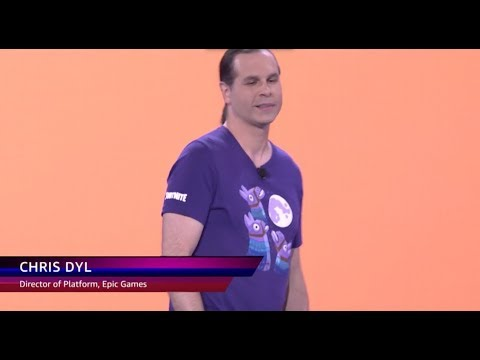 AWS re:Invent 2018: Chris Dyl, Director of Platform at Epic Games, Speaks at Monday Night Live