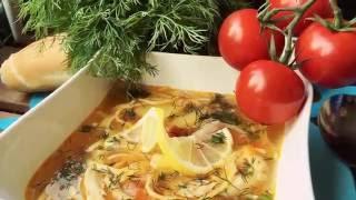 Домашний куриный суп домашняя лапша с подливой