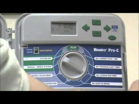 How to Set Your Irrigation Timer