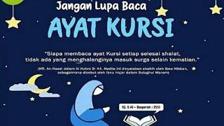 Selesai Sholat Sebelum Tidur Baca Ayat Kursi Muzamil