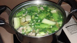 Winter Melon With Pig Meat Soup Cooked Cambodian Style