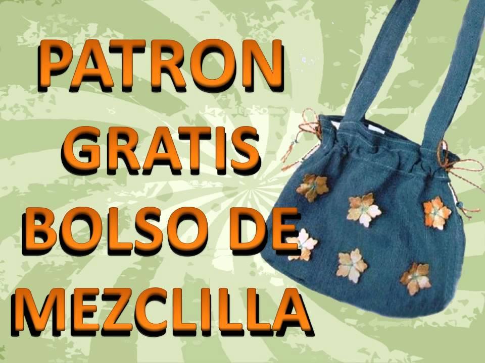 DIY - BOLSO DE MEZCLILLA - PATRONES PARA DESCARGAR GRATIS - denim ...