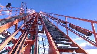 Goliath Front Row POV Six Flags Magic Mountain