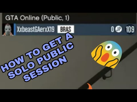 GTA 5 HOW TO GET A SOLO PUBLIC SESSION!!!(XBOX ONE)