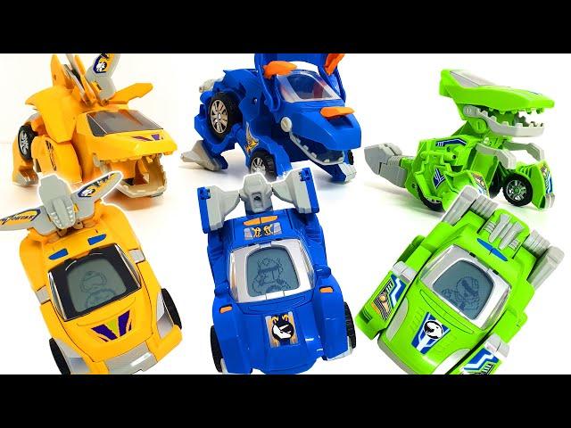 Transform robot car! Defeat the bad dinosaurs! ❤️ RACHAMAN TOY
