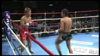 K-1 World MAX 2011 -70kg Japan GP Semi Final #2 - Kenta (健太) vs Y...