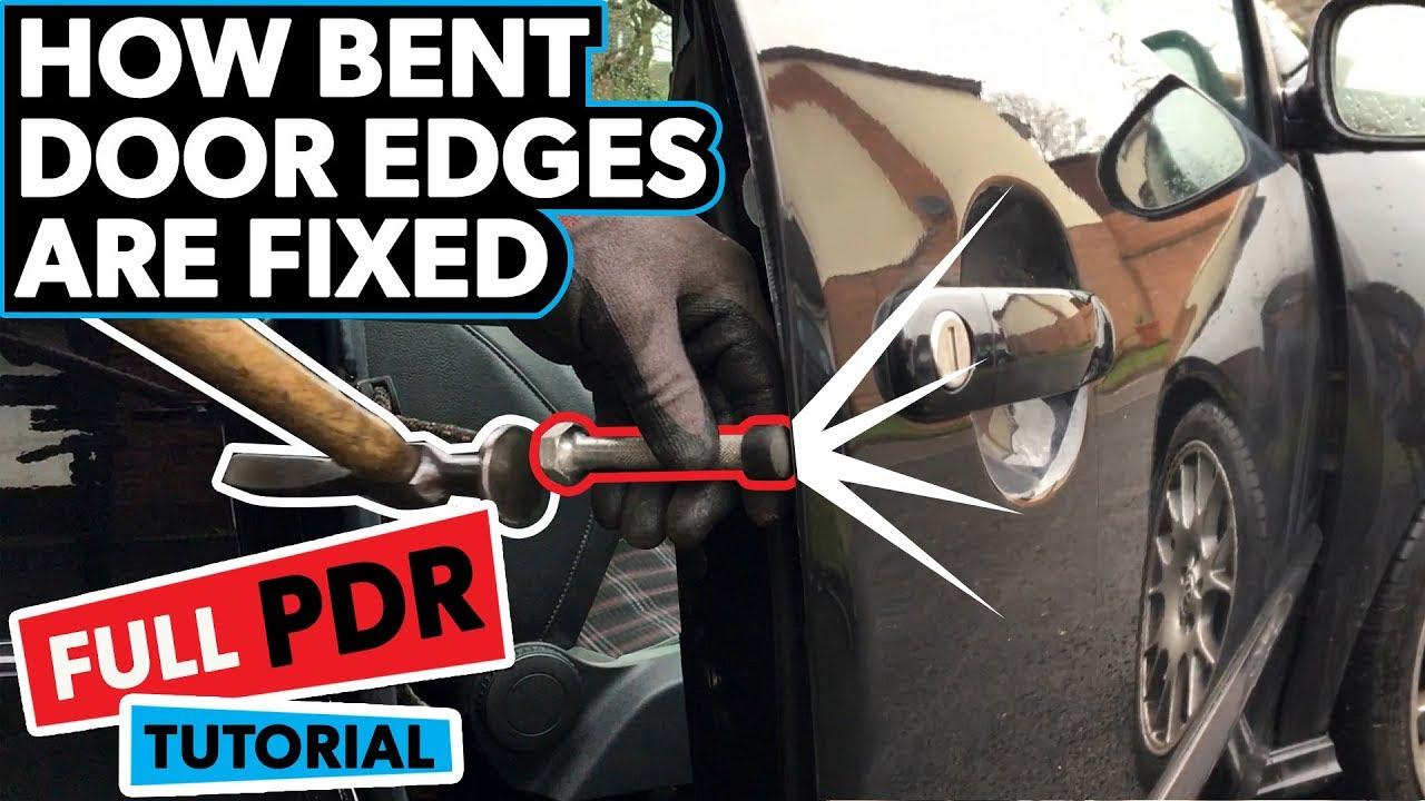 How To Repair A Bent Door Edge Full Pdr Tutorial Youtube