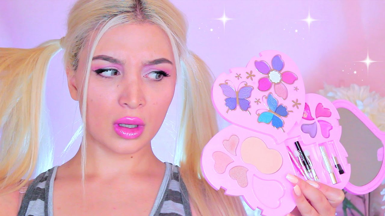 Full Face Using Only Kids Makeup Challenge Inspo By