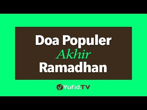 Doa Populer Akhir Ramadhan
