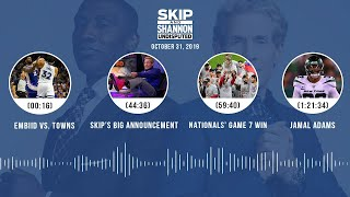 UNDISPUTED Audio Podcast (10.31.19) with Skip Bayless, Shannon Sharpe & Jenny Taft | UNDISPUTED