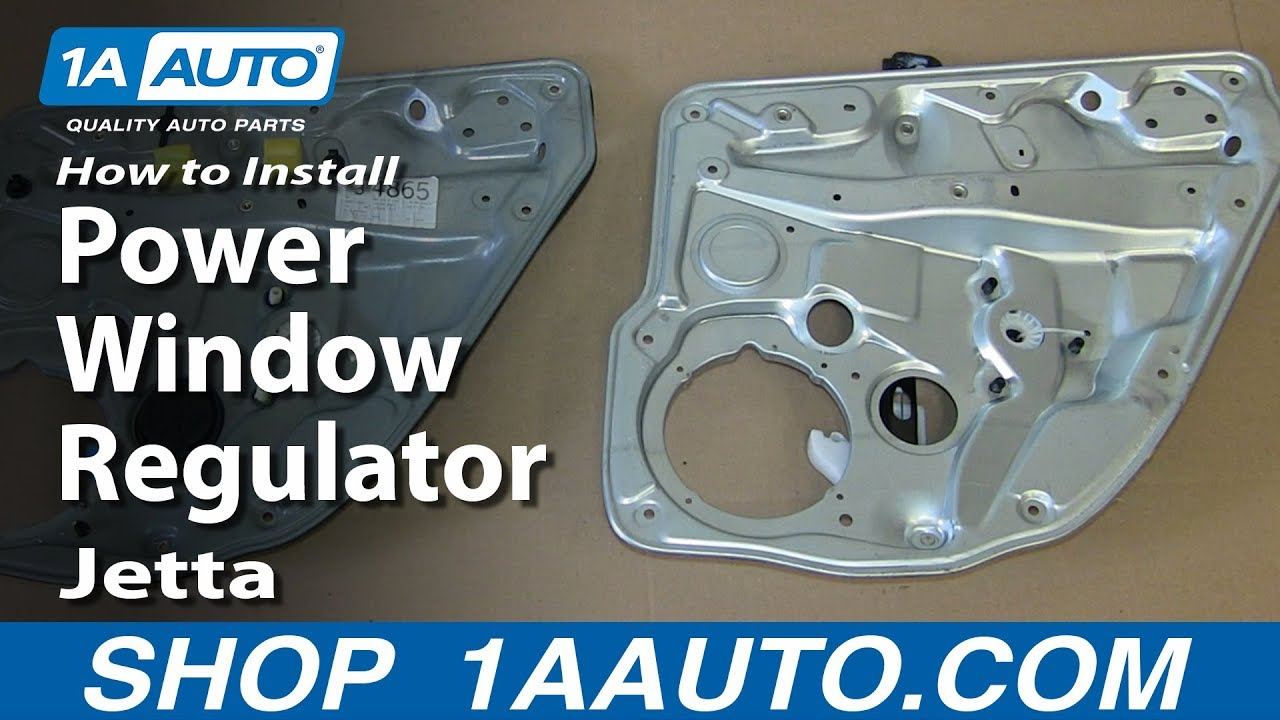 How to install replace rear power window regulator 1999 05 for 1999 passat window regulator
