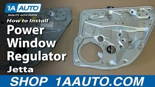 How To Install Replace Rear Power Window Regulator 1999-05 VW Volkswagen Jetta