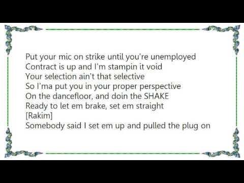Eric B.  Rakim - Set 'Em Straight Lyrics