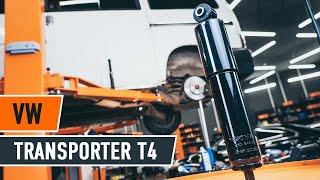 Kuinka vaihtaa Takaiskunvaimennin ja etuiskunvaimennin VW TRANSPORTER IV Bus (70XB, 70XC, 7DB, 7DW) - ilmaiseksi video verkossa