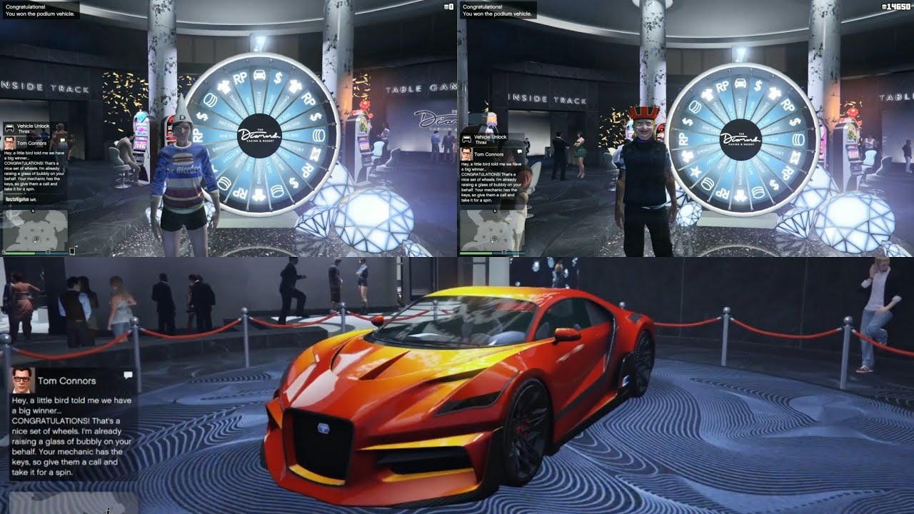 GTA 5 Casino Lucky Wheel Podium Car Win Twice in 10 Minutes ...