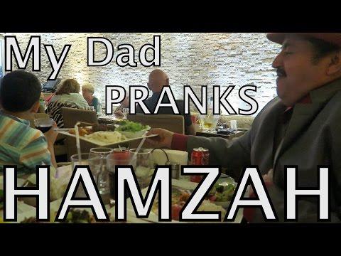 MY DAD PRANKS HAMZAH!!