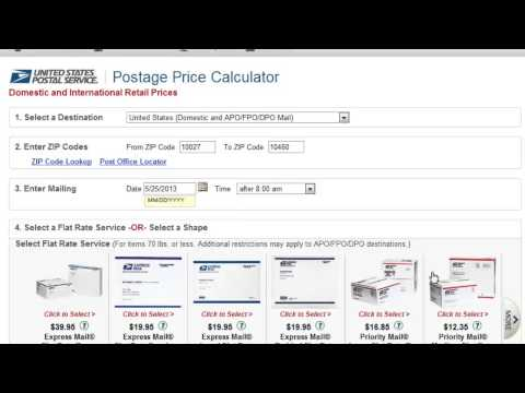 USPS Postal Price Calculator