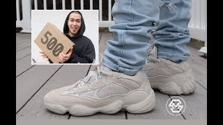 adidas yeezy desert rat 500 blush on feet sizing review