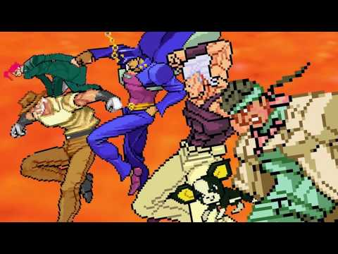 jojo's bizarre adventure stardust crusaders sprite version