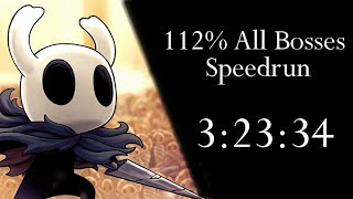 Hollow Knight 112% All Bosses Speedrun - 3:23:34 [WR]